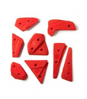 Set of 8 crimp holds Arrow XS