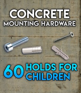 Pack of mounting hardware for the Set of 60 holds Beginners for concrete