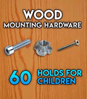 Pack of mounting hardware for the Set of 60 beginner holds