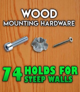 Wood screws, pack of 74 holds for steep walls