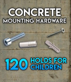 Pack of mounting hardware for the Set of 120 holds Beginners for concrete