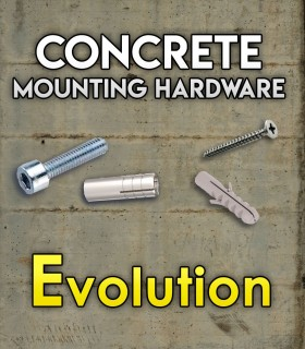 Pack of mounting hardware for the Set Evolution for concrete.