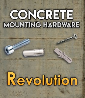 Pack of mounting hardware for the Set Revolution for concrete