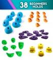 Pack of 38 beginner holds