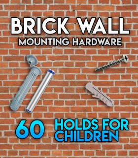 Pack of mounting hardware for the Set of 60 holds Beginners for brick