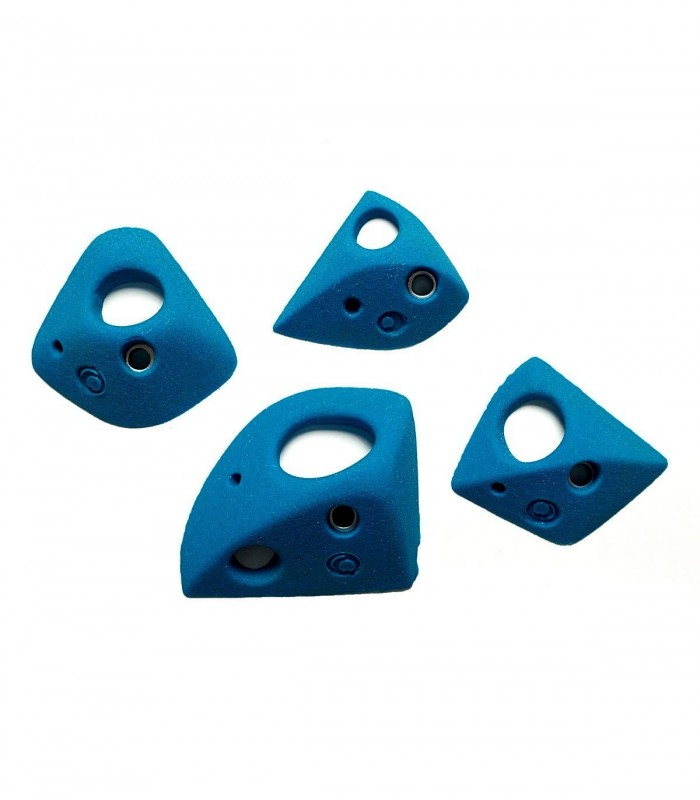 Set of 74 comfotable holds for steep walls.